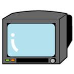 ブラウン管式テレビのイラスト