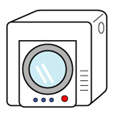 衣類乾燥機のイラスト
